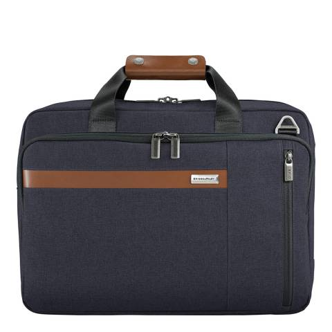 Briggs & Riley Navy Convertible Backpack Brief