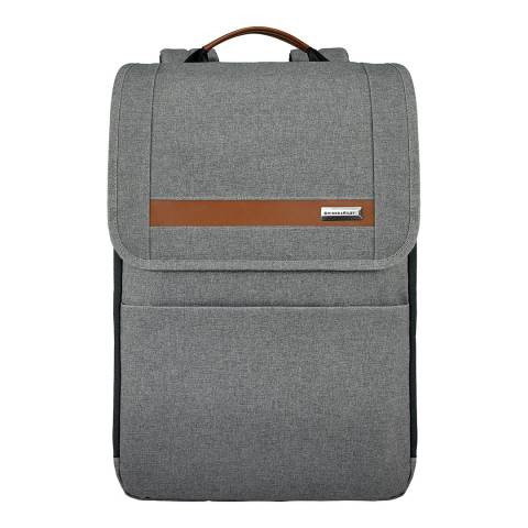 Briggs & Riley Grey Slim Expandable Backpack