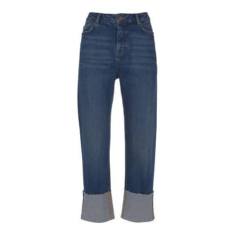 Mint Velvet Meribel Indigo Turn Up Jeans