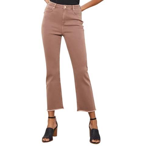 Mint Velvet Nevada Latte Raw Hem Jeans