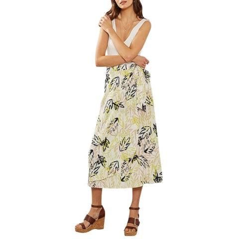 Mint Velvet Olive Print Wrap Skirt