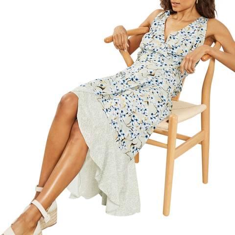 Mint Velvet Annie Print Ruffled Dress