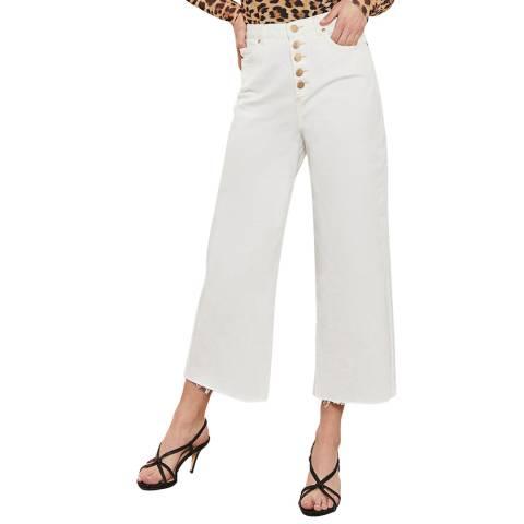 Mint Velvet Madison Off-White Button Jeans