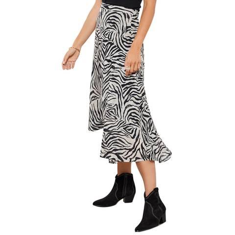 Mint Velvet Naomi Zebra Print Midi Skirt