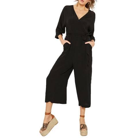 Mint Velvet Black Kimono Wrap Jumpsuit