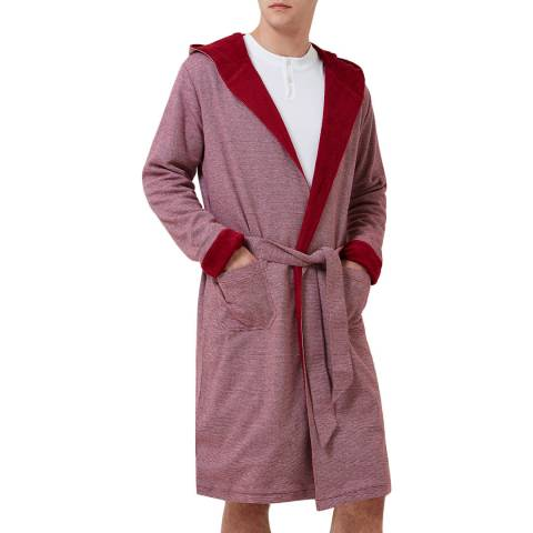 Hamilton and Hare Red Stripe Towelling Robe