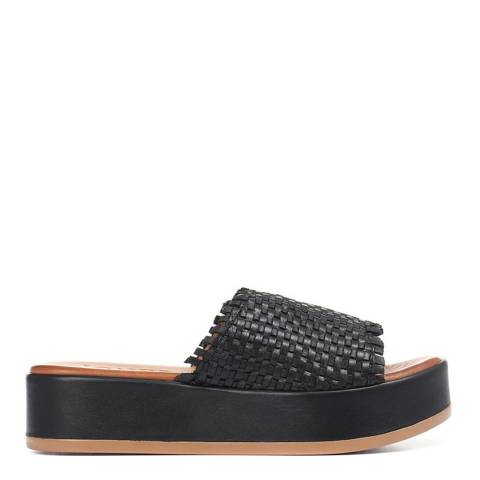 JONES BOOTMAKER Black Sia Platform Leather Sandals