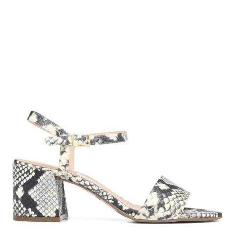 JONES BOOTMAKER Snake Carm Heeled Leather Sandals