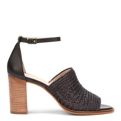 Mint Velvet Black Layla Woven Heel Sandal