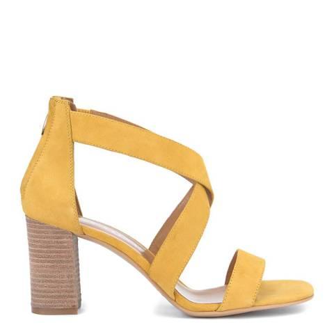 Mint Velvet Yellow Teagan Crossover Sandal