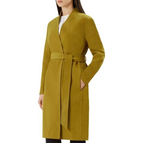 Hobbs London Ochre Elisa Wrap Coat