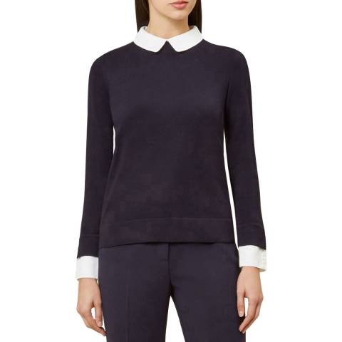 Hobbs London Navy Ellie Jumper