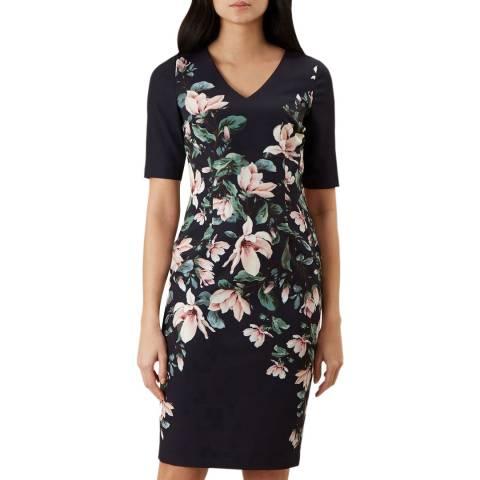Hobbs London Multi Astraea V Neck Dress