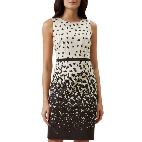 Hobbs London Black/Ivory Arabella Dress