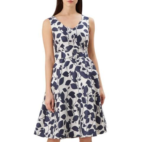 Hobbs London Ivory Print Grace Dress