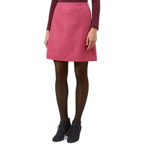 Hobbs London Pink Wool Elea Skirt