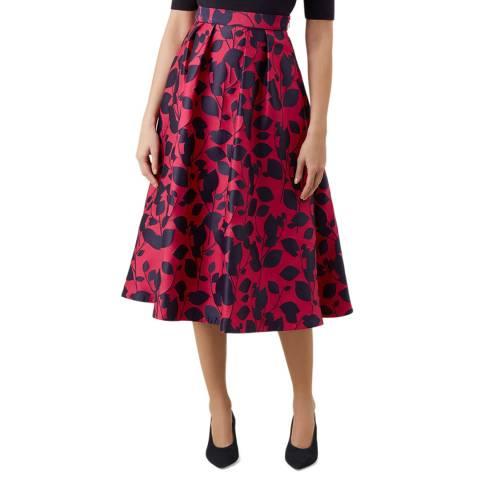 Hobbs London Cerise Print Hermione Skirt