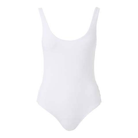 Melissa Odabash White pique Antibes Swimsuit