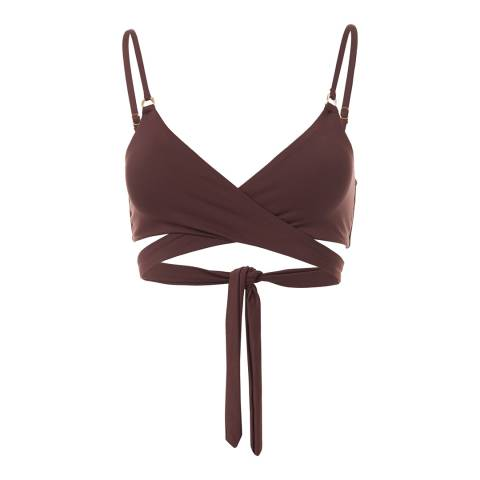 Melissa Odabash Walnut Indonesia Wrap Bikini Top