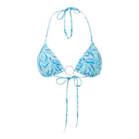 Melissa Odabash Blue Leaf Miami Bikini Top