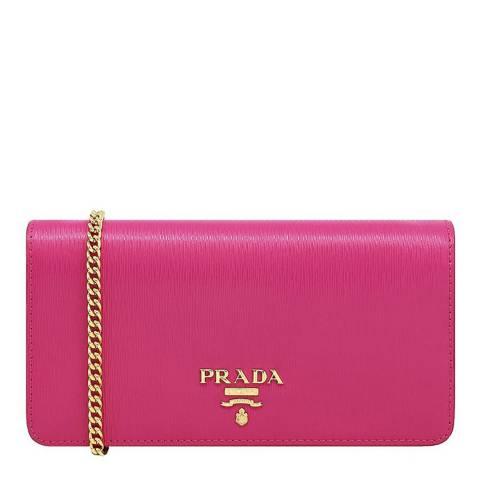 Prada Fuchsia Pink Leather Crossbody Bag