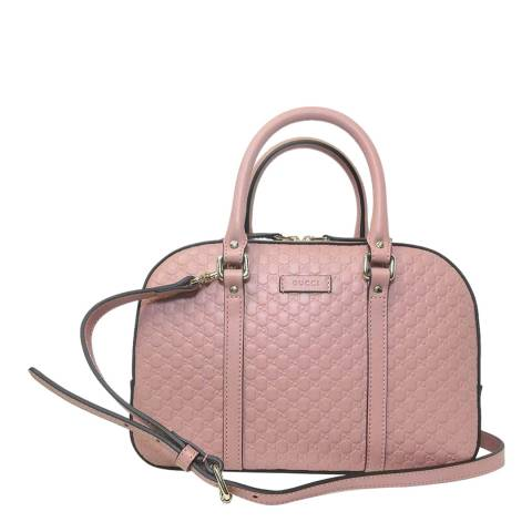 Gucci Pink Micro Guccissima Leather Handbag