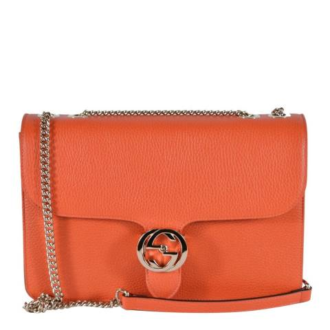 Gucci Orange Marmont Leather Crossbody Bag