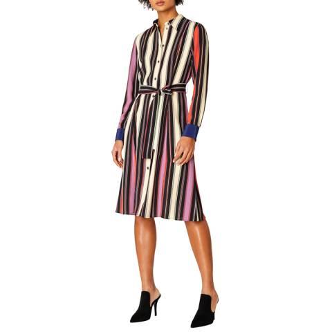 PAUL SMITH Cream/Multi Stripe Shirt Dress