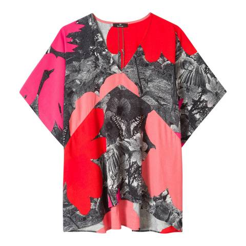 PAUL SMITH Red/Multi Rainforest Top