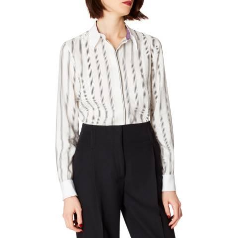 PAUL SMITH Cream Stripe Silk Shirt