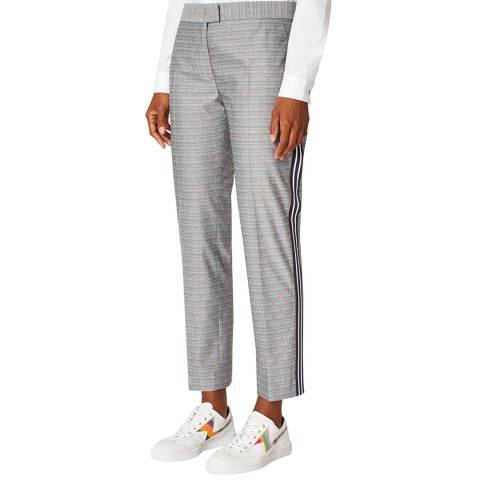 PAUL SMITH Grey Stripe Slim Stretch Trousers