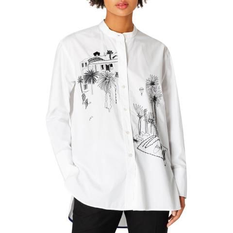 PAUL SMITH White Illustrative Cotton Shirt