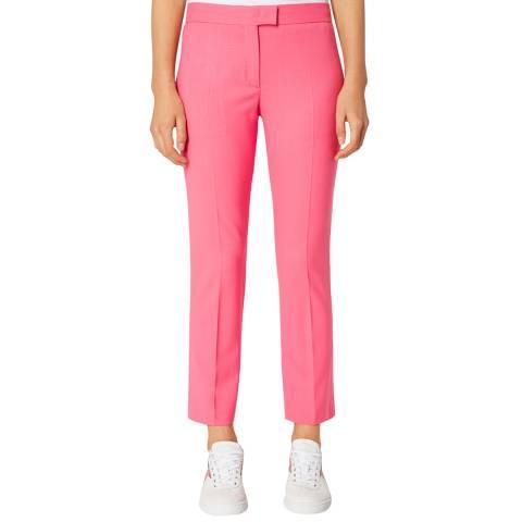 PAUL SMITH Pink Slim Wool Trousers