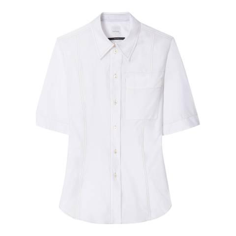 PAUL SMITH Off White Stitch Cotton/Silk Shirt