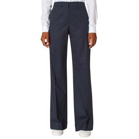 PAUL SMITH Navy Wide Stretch Trousers