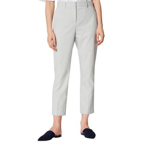 PAUL SMITH Ivory Micro Dot Slim Stretch Trousers
