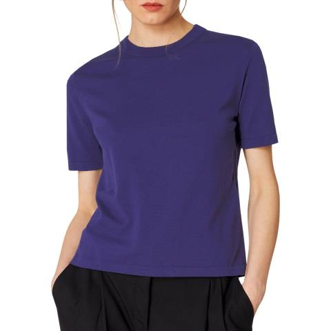 PAUL SMITH Indigo Short Cotton T-Shirt