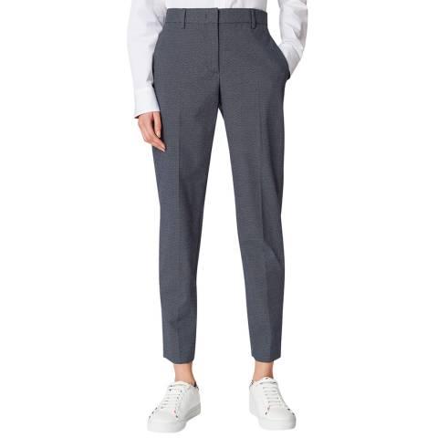 PAUL SMITH Navy Micro Dot Slim Stretch Trousers
