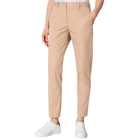 PAUL SMITH Beige Slim Cotton Trousers
