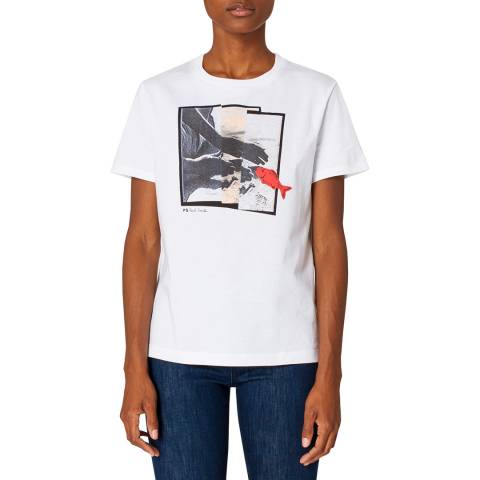 PAUL SMITH White Graphic Cotton T-Shirt