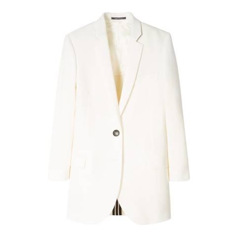 PAUL SMITH Off White Wool Blazer