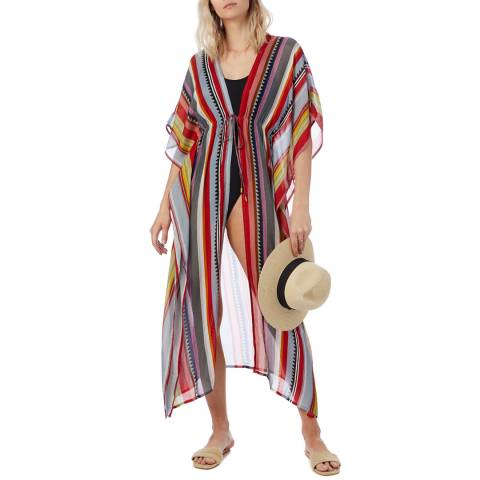 N°· Eleven Multi Stripe Print Cover Up