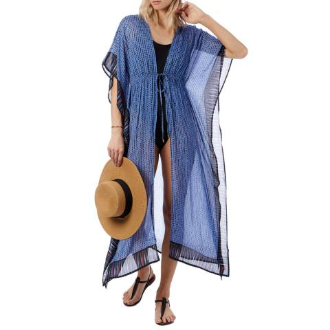 N°· Eleven Blue Border Print Cover Up