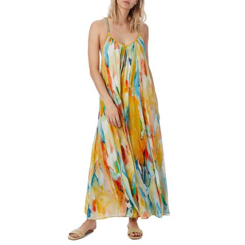 N°· Eleven Multi Abstract Print Dress