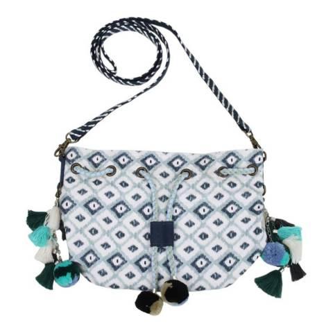 N°· Eleven Aqua Tile Print Tote Bag