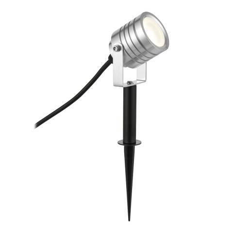 Saxby Silver Luminatra Spike Outdoor Light