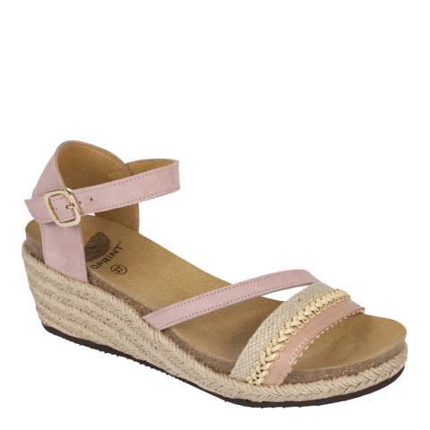 Scholl Pale Pink Mayra Suede Sandals