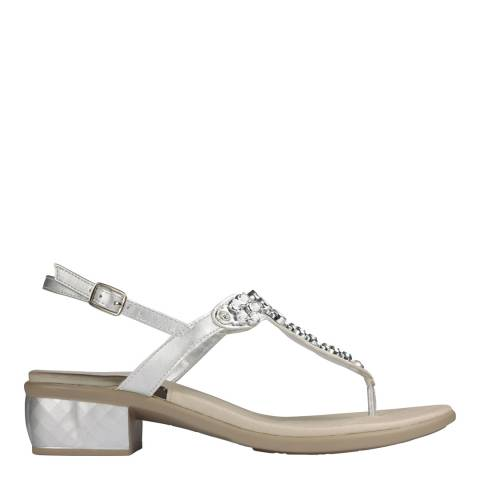 Scholl Silver Dollie Sandals