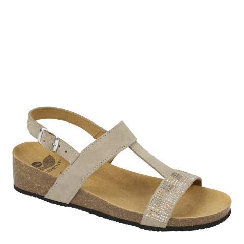 Scholl Light Grey Suede Madaline Sandals