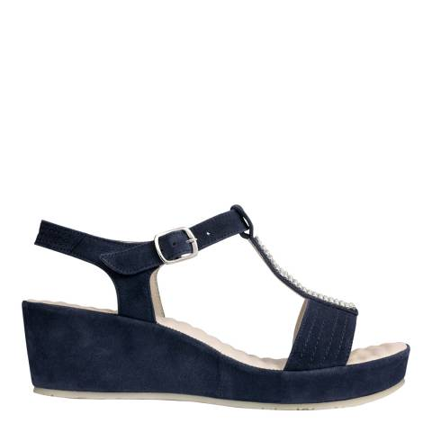 Scholl Navy Blue Suede Catelyn Sandals